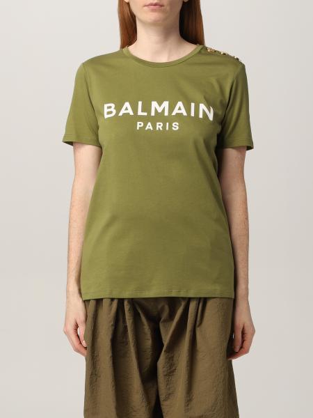 T-shirt Balmain in cotone con logo