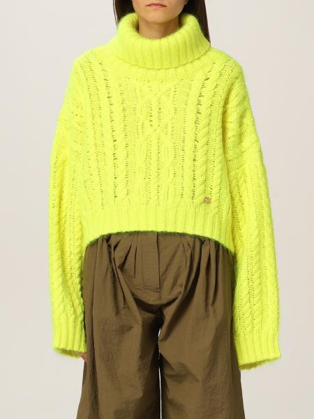 Pullover cropped Balmain in lana vergine e mohair