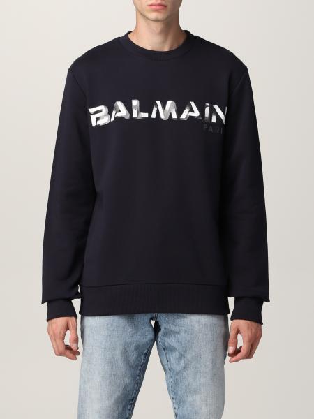 Felpa Balmain in cotone con logo