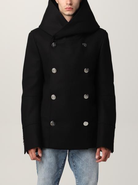 Cappotto a doppiopetto Balmain in misto lana