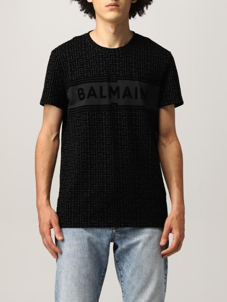 T-shirt Balmain in cotone con monogramma
