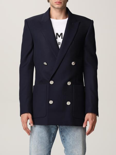 Balmain double-breasted blazer in virgin wool