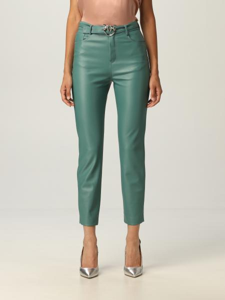 Pinko trousers with belt and Love Birds buckle
