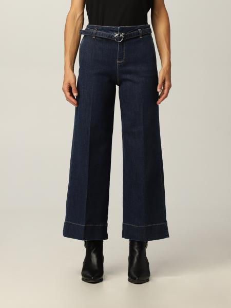 Peggy Pinko jeans with belt and Love Birds buckle