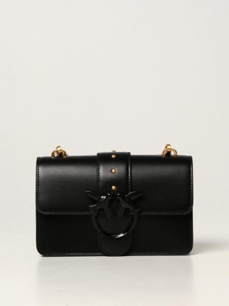 Love mini Icon Pinko bag in cowhide