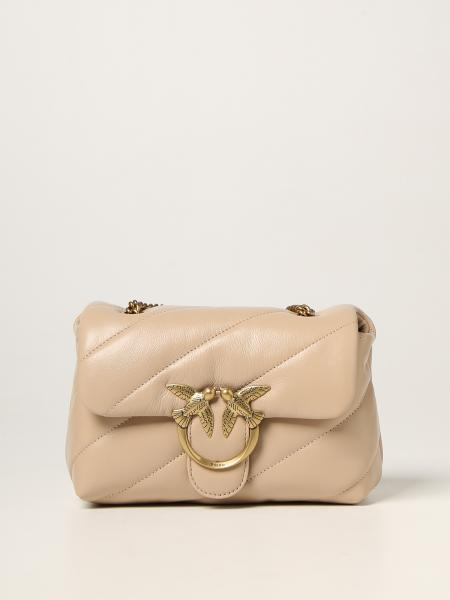 Love mini Puff bags maxi quilt Pinko in quilted nappa