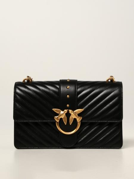 Love Classic Icon V Quilt Pinko leather bag
