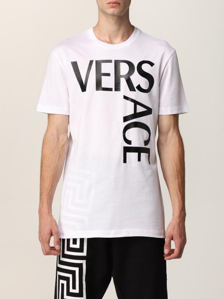 Versace men: Versace t-shirt in organic cotton with logo