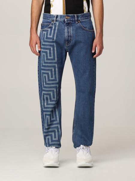 Versace men: Versace jeans with big Greek logo