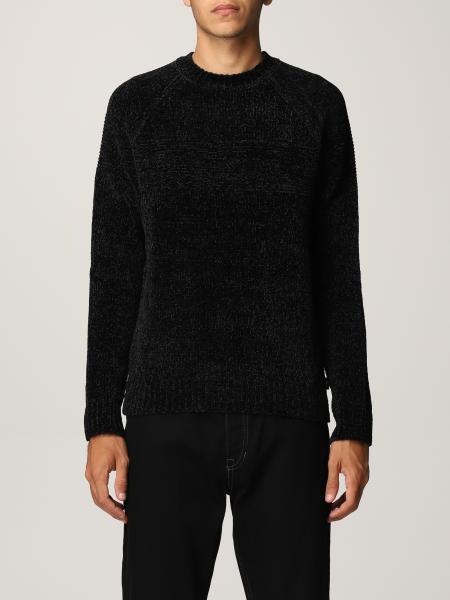 Emporio Armani men: Emporio Armani color block crewneck sweater