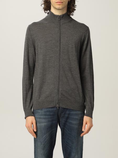 Cardigan con zip Emporio Armani in lana vergine