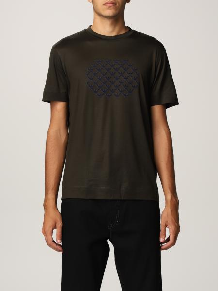 T-shirt Emporio Armani in misto cotone stretch