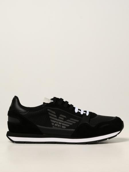 Sneakers Emporio Armani in camoscio