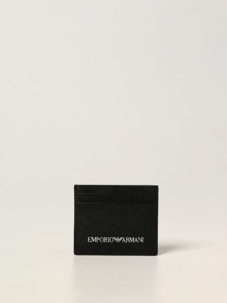 Porta carte di credito Emporio Armani in pelle sintetica