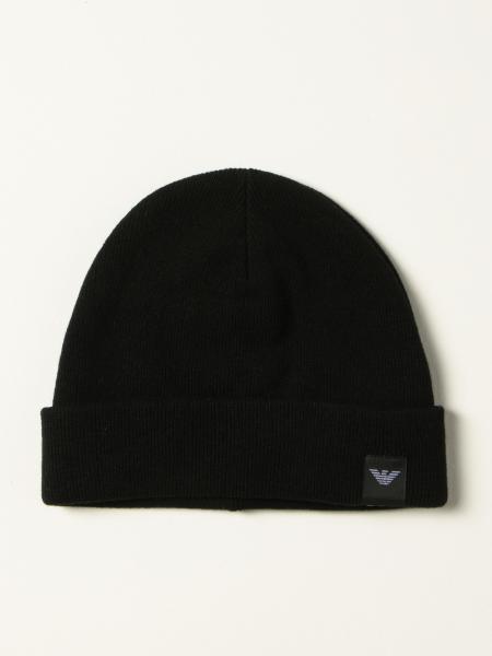 Cappello a berretto Emporio Armani in misto lana