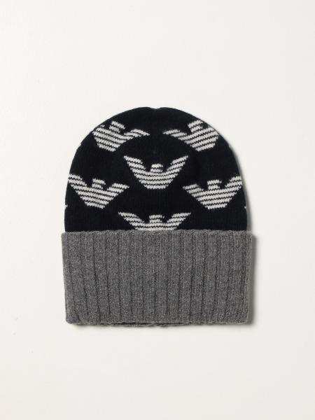 Cappello a berretto Emporio Armani con logo all over