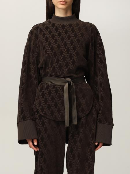 The Attico jumper in jacquard velvet