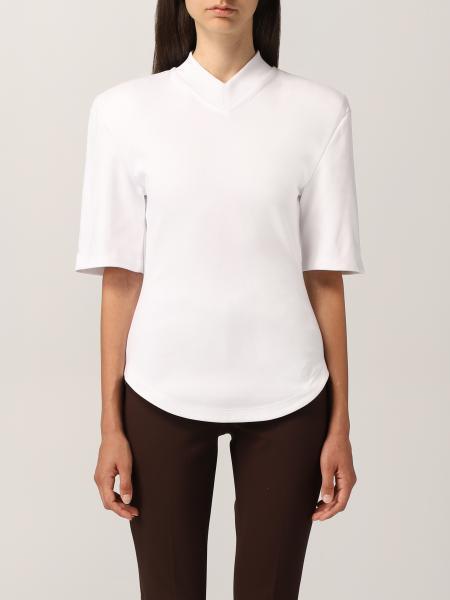The Attico v-neck t-shirt in cotton