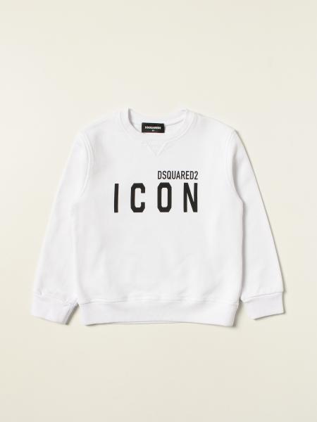 Dsquared2 Junior cotton jumper with Icon logo