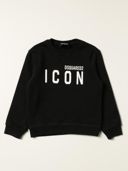 Felpa Dsquared2 Junior in cotone con logo Icon