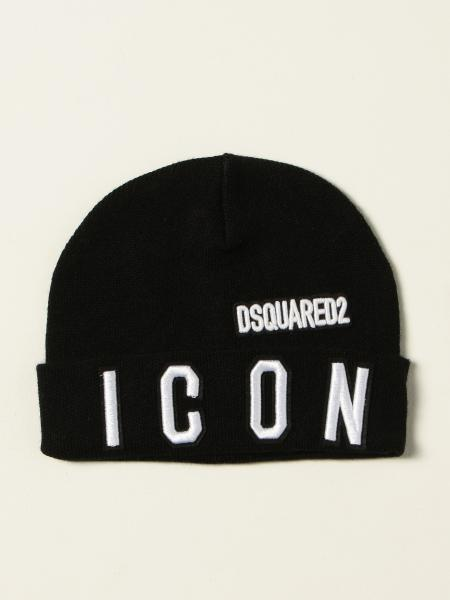 Dsquared2 Junior beanie hat with logo patch