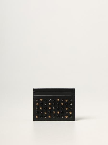 Kios Christian Louboutin credit card holder with studs