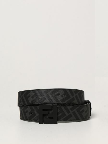 Reversible Fendi leather belt
