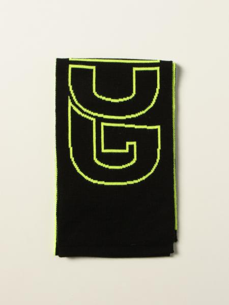 Gcds wool blend scarf with big logo