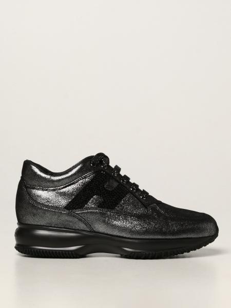 Hogan donna: Sneakers Interactive Hogan in tessuto lurex