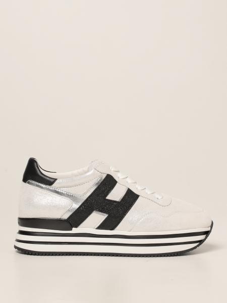 Hogan donna: Sneakers midi platform H483 Hogan in pelle lurex