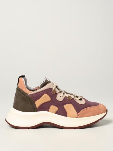 Hogan donna: Sneakers H585 Hogan in camoscio multicolor