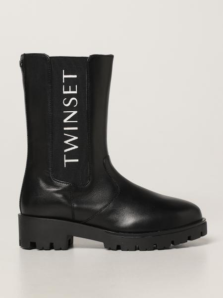 Twin-set leather boots