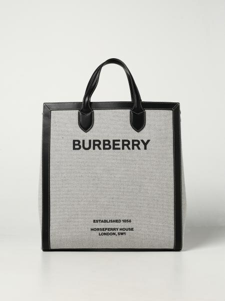 Borsa Burberry in cotone con stampa Burberry Horseferry
