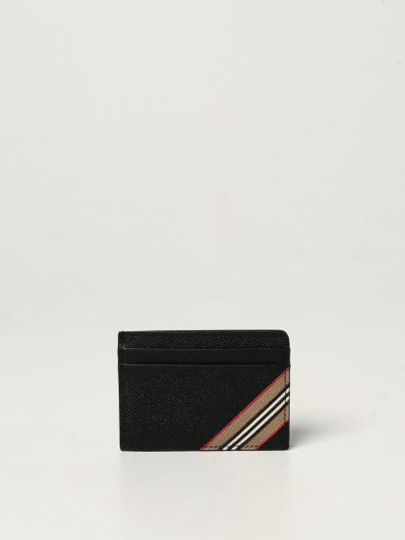 Burberry credit card holder in textured leather