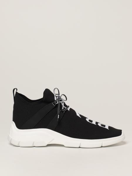 Zapatillas de Prada en tejido de punto con logo