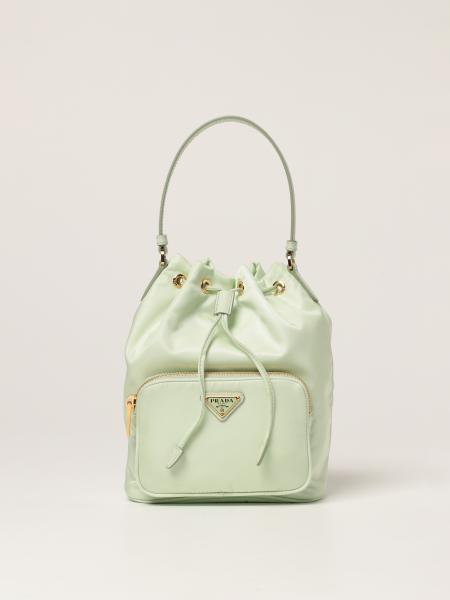 Prada women: Prada bag in re-nylon with triangular logo