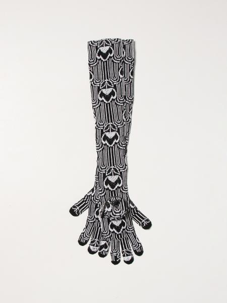 Prada: Guanti Prada lunghi in lana vergine
