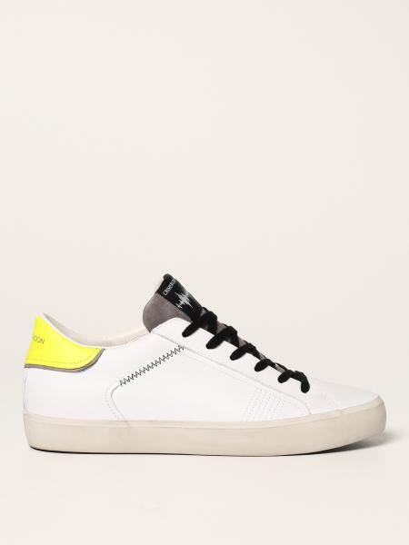 Crime London: Sneakers low top Distressed Crime London in pelle