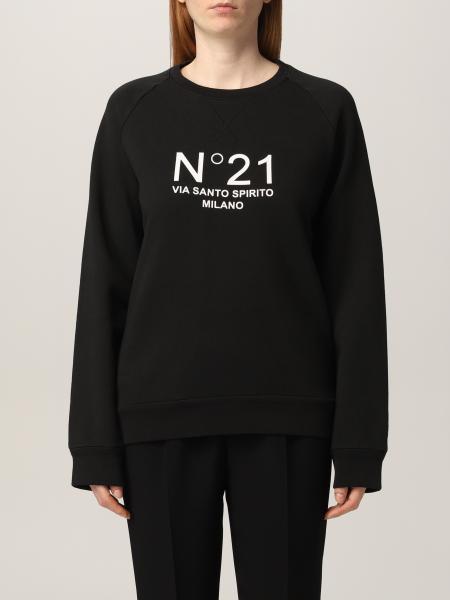 Felpa N° 21 in cotone con logo