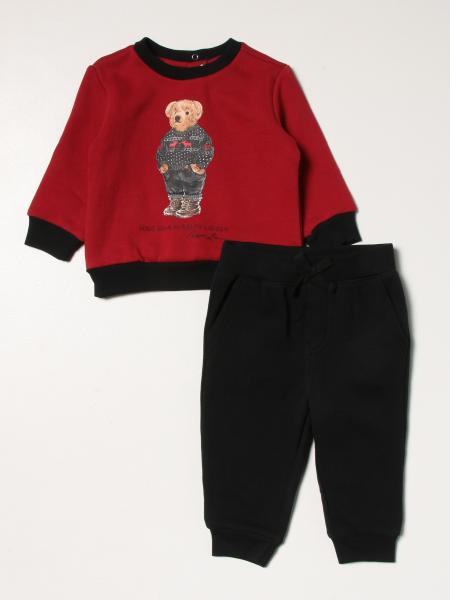Felpa girocollo teddy e pantalone