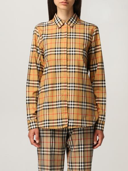 Burberry oversize shirt in cotton with vintage check pattern