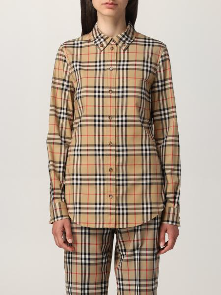 Burberry shirt in stretch check cotton