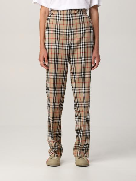 Burberry trousers in check wool