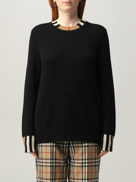 Burberry cashmere pullover with striped pattern
