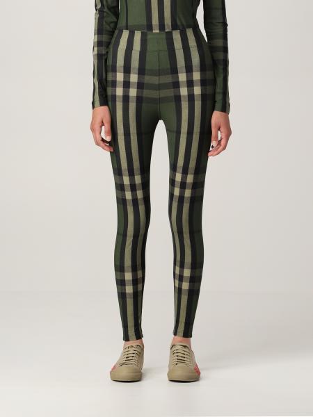 Burberry leggings in stretch jersey with tartan motif