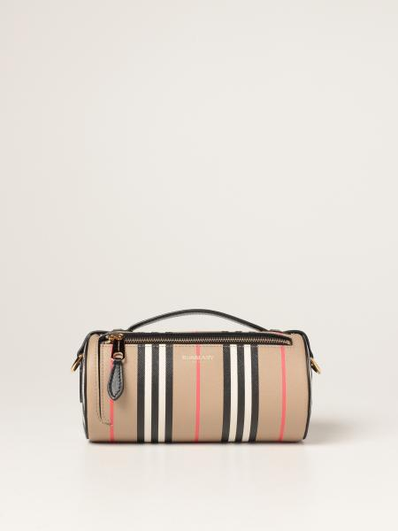Burberry women: Burberry bag in E-canvas with striped print
