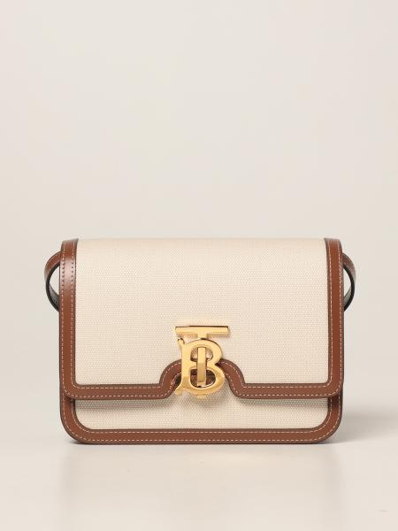 Burberry women: Burberry crossbody bag in canvas with TB logo