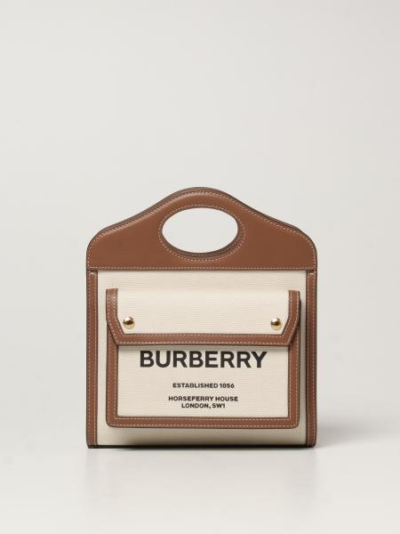 Burberry women: Horseferry Burberry bag in canvas and leather