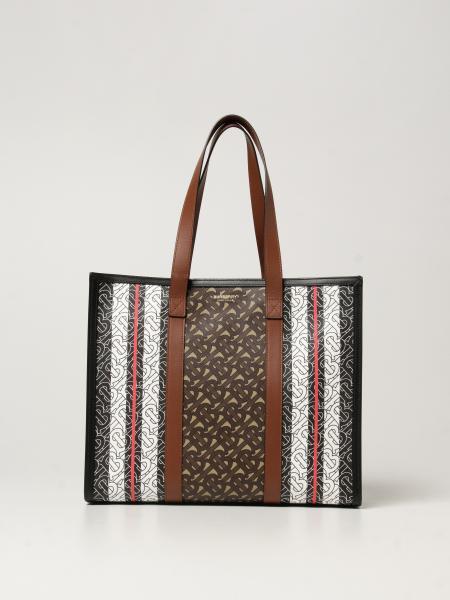 Burberry women: Burberry handbag in e-canvas with monogram print