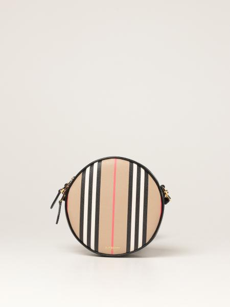 Burberry women: Louise Burberry bag / pouch in E-canvas with striped print